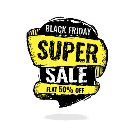 Today Only Mega Sale banner. Big super sale, flat 50 off. Vector illustration.
