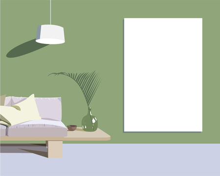 Sketch interior design comfortable workplace. Hand drawn vector illustration studio,  table,  team,  vector,  website,  work Illustration
