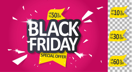 Black Friday with massive discounts poster template design