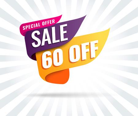 Super Sale, Mega. this weekend special offer banner, up to 50 off. Vector illustration. Vektoros illusztráció
