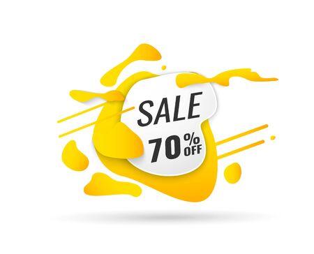 Super Sale, Mega. this weekend special offer banner, up to 40 off. Vector illustration.