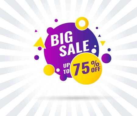 Super Sale, Mega. this weekend special offer banner, up to 40 off. Vector illustration.