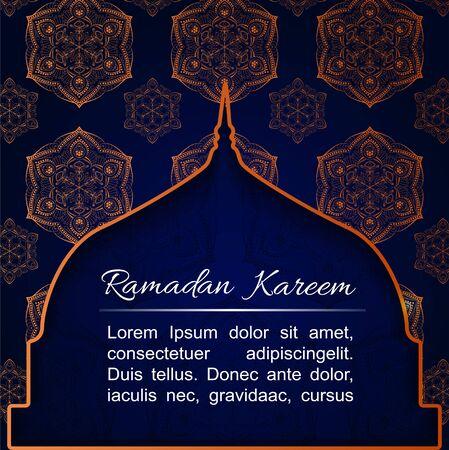 Stories and square posts set with Islamic Ramadan Mubarak design. Sale social media template banners ad. Editable vector illustration.