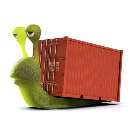 haulage: 3d Snail haulage contractor