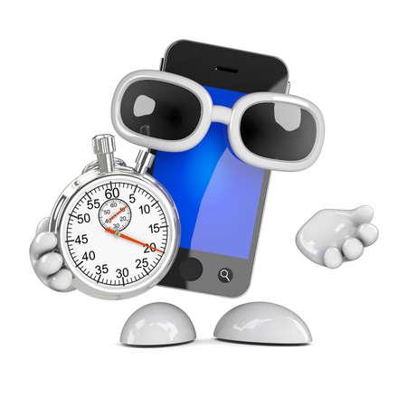 3d Smartphone timekeeper photo