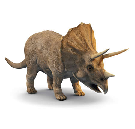 monster teeth: 3d three quarter view of a triceratops