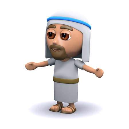 the scriptures: 3d render of Jesus Christ with arms outstretched Stock Photo