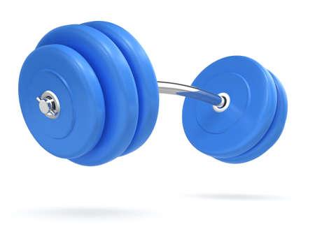 bending: 3d render of weights bending side view Stock Photo