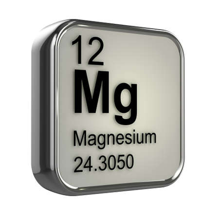 magnesium: 3d render of the magnesium element from the periodic table
