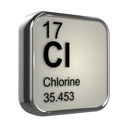 3d render of the chlorine element from the periodic table photo