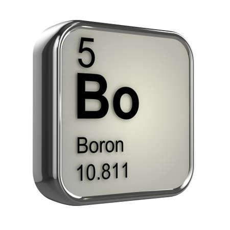 boro: 3d del elemento boro de la tabla peri�dica