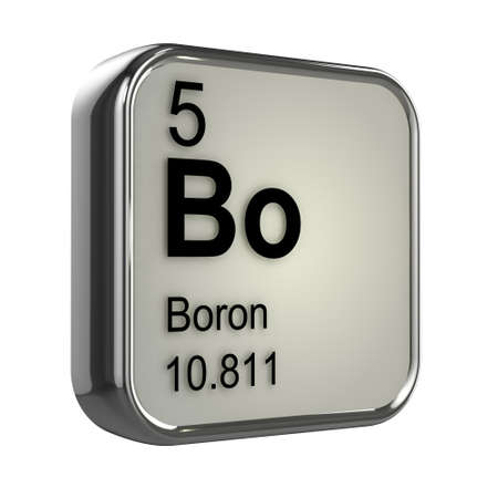 boron: 3d render of the boron element from the periodic table