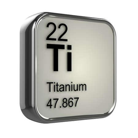 3d render of Titanium element design photo