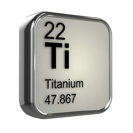 3d render of Titanium element design photo
