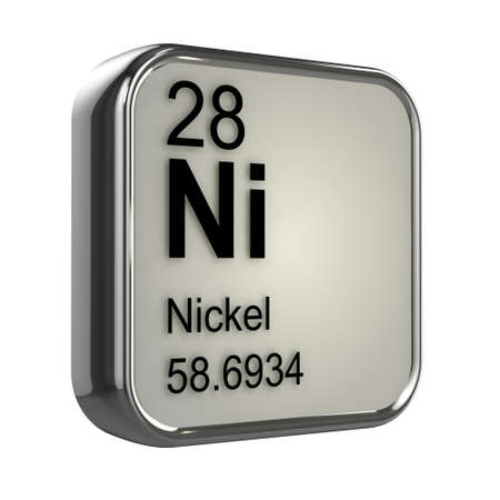 3d render of Nickel element design photo
