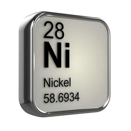 isotopes: 3d render of Nickel element design