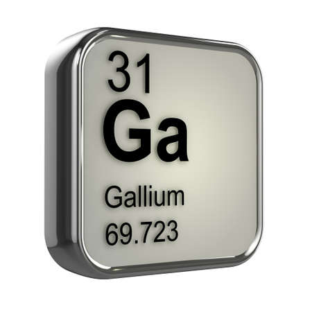 3d render of Gallium element design photo