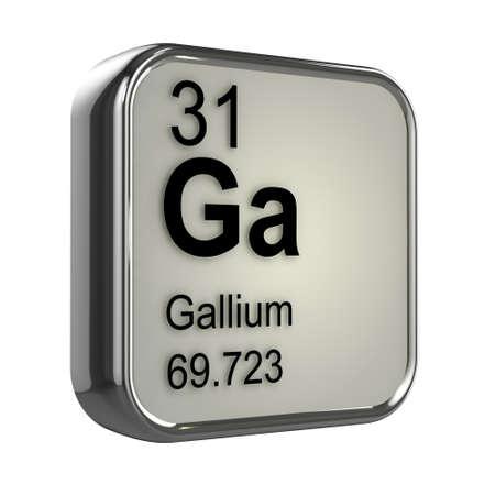 isotopes: 3d render of Gallium element design