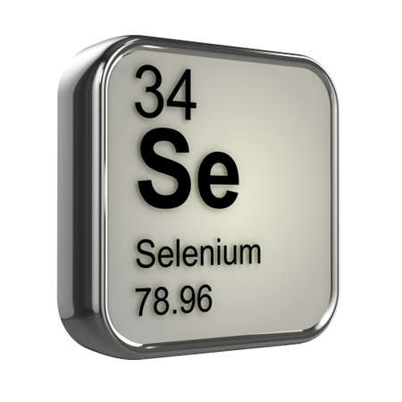 3d render of Selenium element design photo
