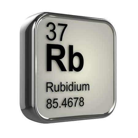 isotopes: 3d render of Rubidium element design