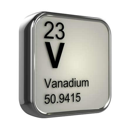 vanadium: 3d render of Vanadium element design