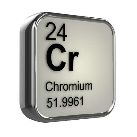 3d render of Chromium element design photo