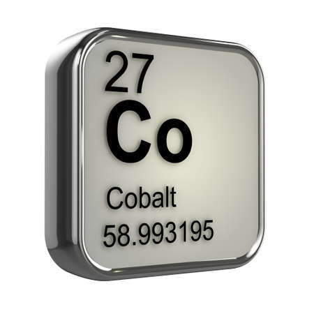 3d render of Cobalt element design photo
