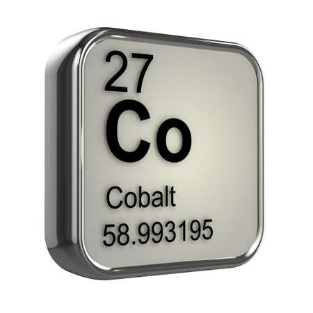 isotopes: 3d render of Cobalt element design