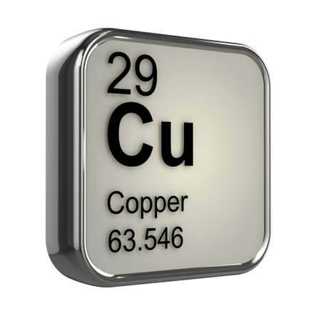 protons: 3d render of Copper element design Stock Photo