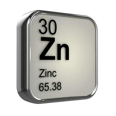 protons: 3d de Zinc dise�o elemento Foto de archivo