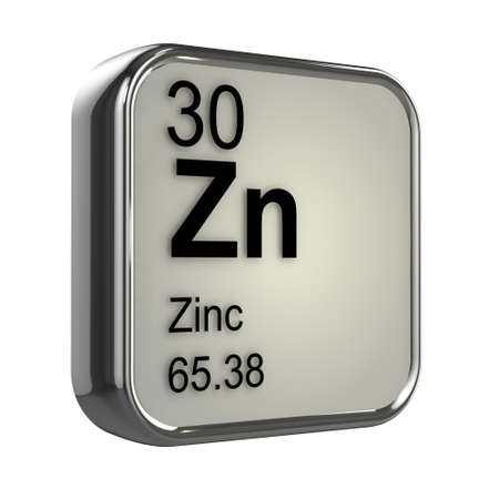 zinc: 3d render of Zinc element design Stock Photo