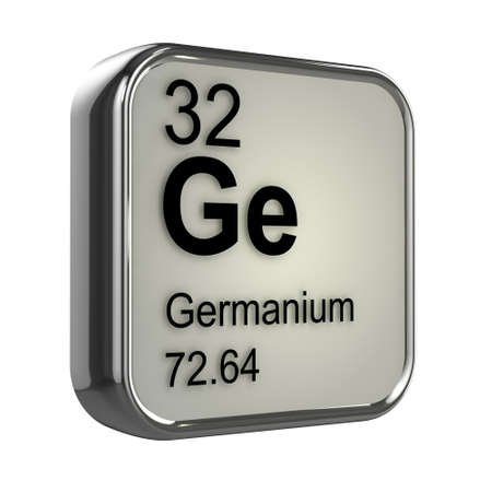 isotopes: 3d render of Germanium element design