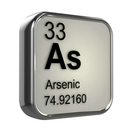 3d render of Arsenic element design photo