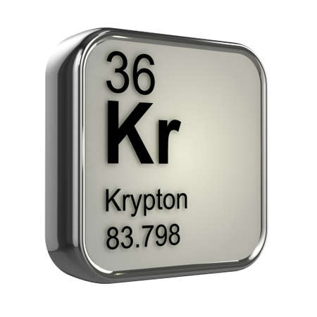 isotopes: 3d render of Krypton element design Stock Photo