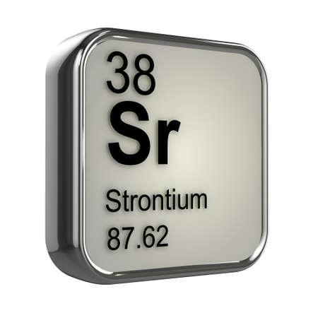 isotopes: 3d render of Strontium element design