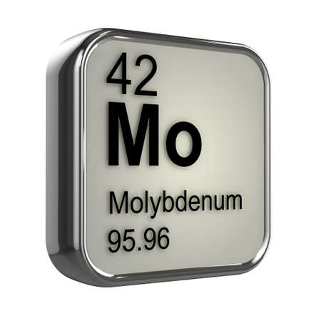 3d render of molybdenum element design photo
