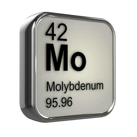 isotopes: 3d render of molybdenum element design