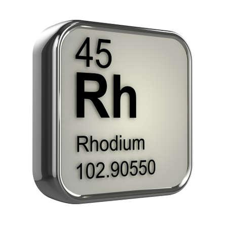 rhodium: 3d render of rhodium element design
