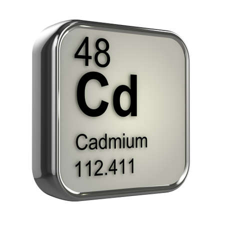 3d render of cadmium element design photo