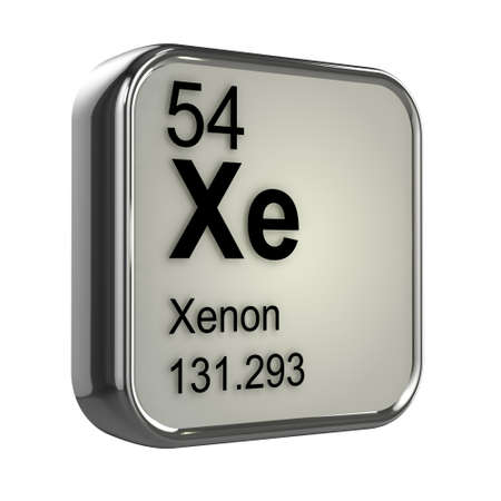 isotopes: 3d render of xenon element design