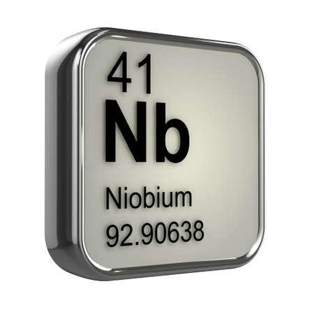 isotopes: 3d render of niobium element design