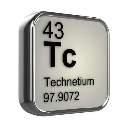 isotopes: 3d render of technetium element design Stock Photo