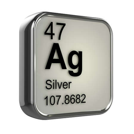 protons: 3d de dise�o de elemento de plata