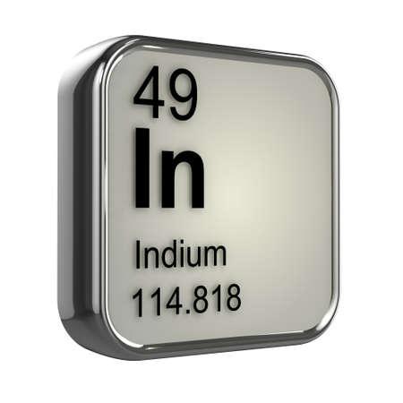 isotopes: 3d render of indium element design