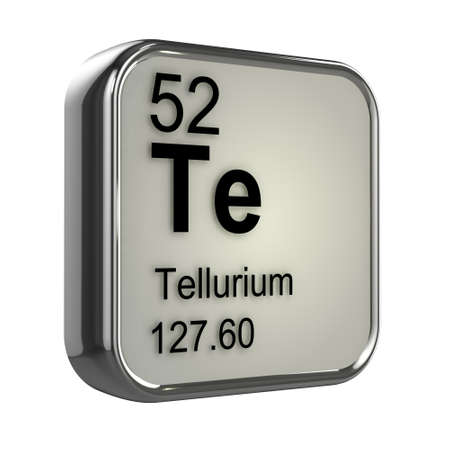 isotopes: 3d render of tellurium element design