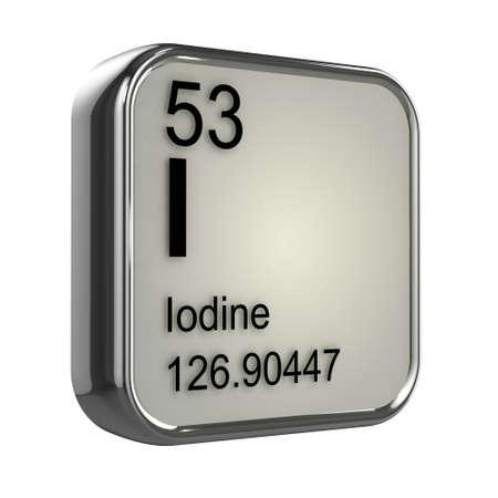 protons: 3d de dise�o elemento yodo