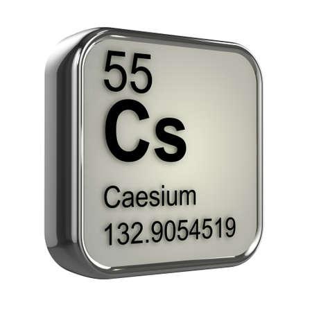 isotopes: 3d render of caesium element design