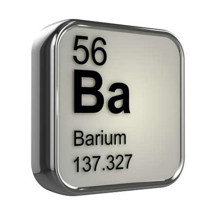 barium: 3d render of barium element design Stock Photo