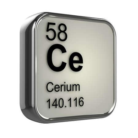 isotopes: 3d render of cerium element design