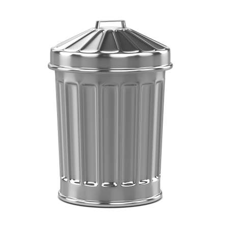 refuse bin: 3d render of a trash can with its lid on Stock Photo